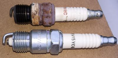 1992 OMC 5 8 Cobra Sterndrive Spark plugs don't match Specs